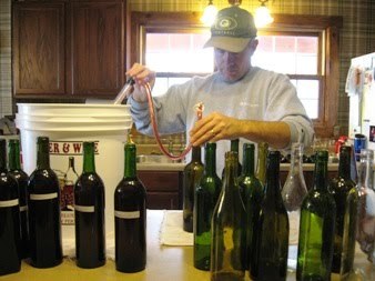 Bottling wine at Brambleberry