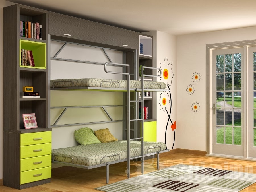 Muebles modernos minimalistas literas para ni os - Literas para bebes ...