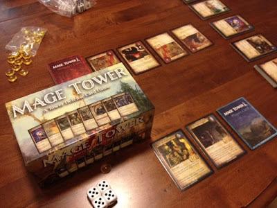 Mage Tower: A Tower Defense Card Game in play