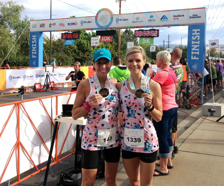 FitOne Half Marathon, Mom and Daughter Running Team, Boise Runners