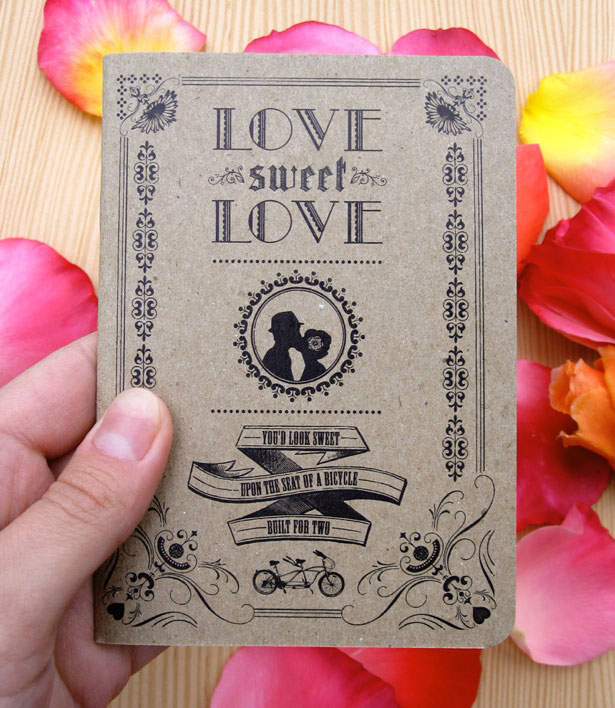 unique sample wedding card