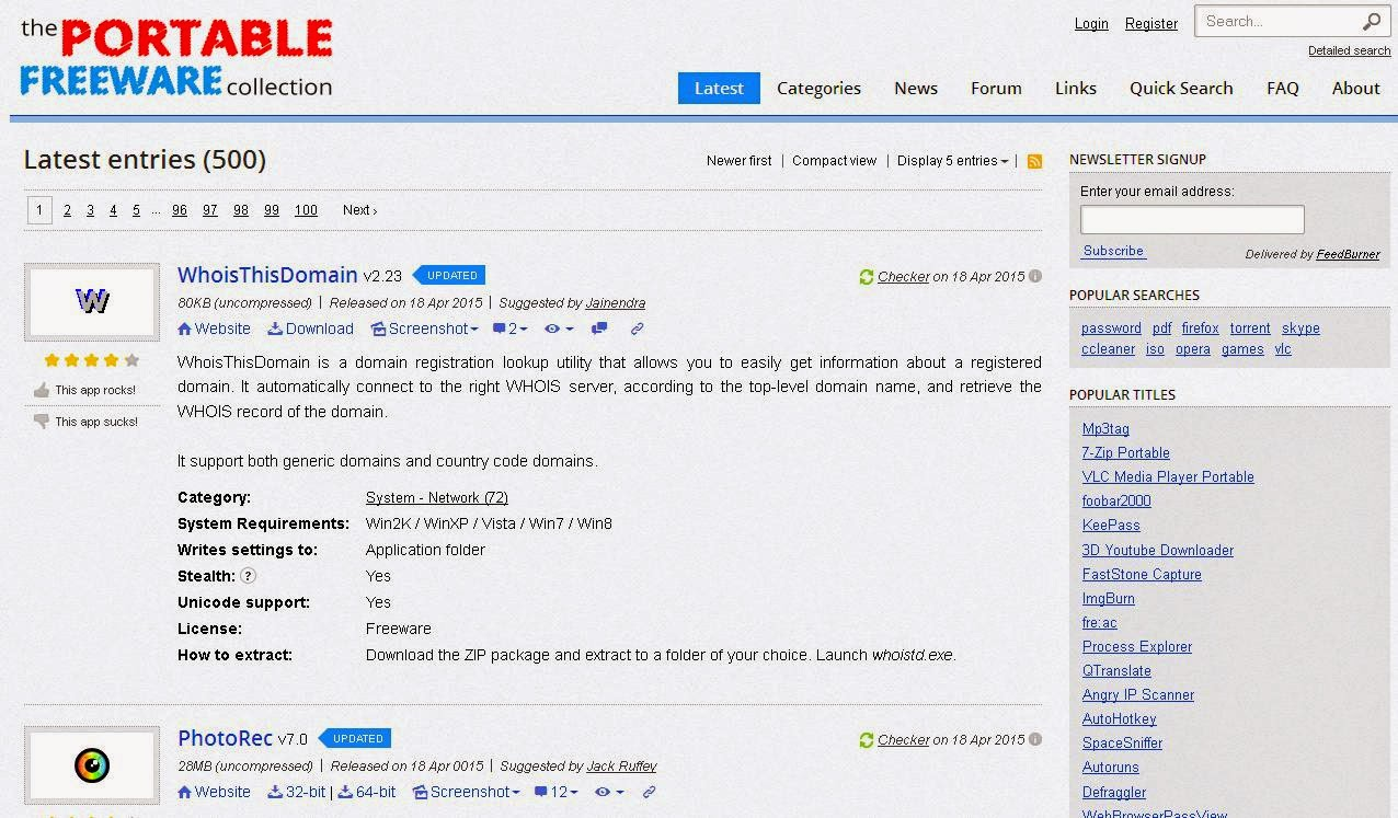 مواقع تحميل برامج بورتابل ( محمولة )