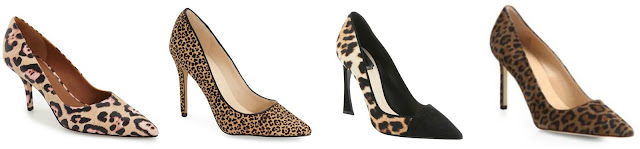 One of these pairs of leopard pumps is from Nine West on sale for $70 and the other three are from designers for more than $500. Can you guess which one is the more affordable pair? Click the links below to see if you are correct!