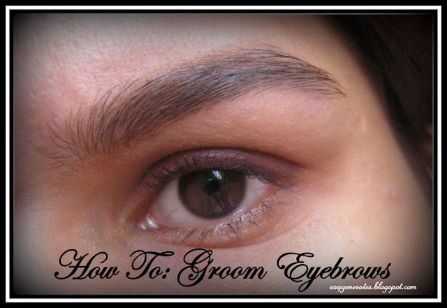 Picture of groomed eyebrows