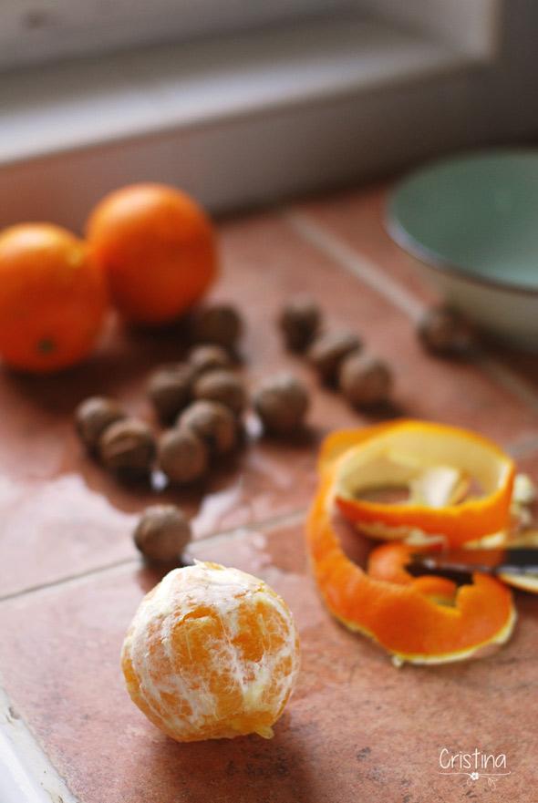 Naranjas con nueces