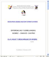DIFERENCIAS Y SEMEJANZAS. CHAVEZ, GOMEZ Y CASTRO