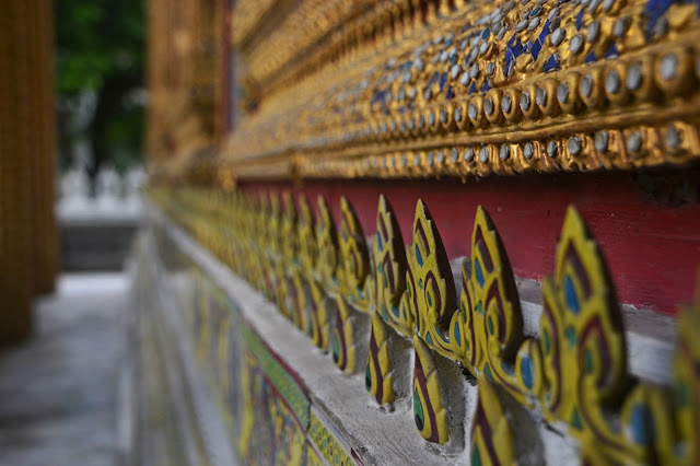 Thailand Wat Ratchabophit detail