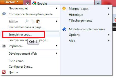 Comment enregistrer une page web