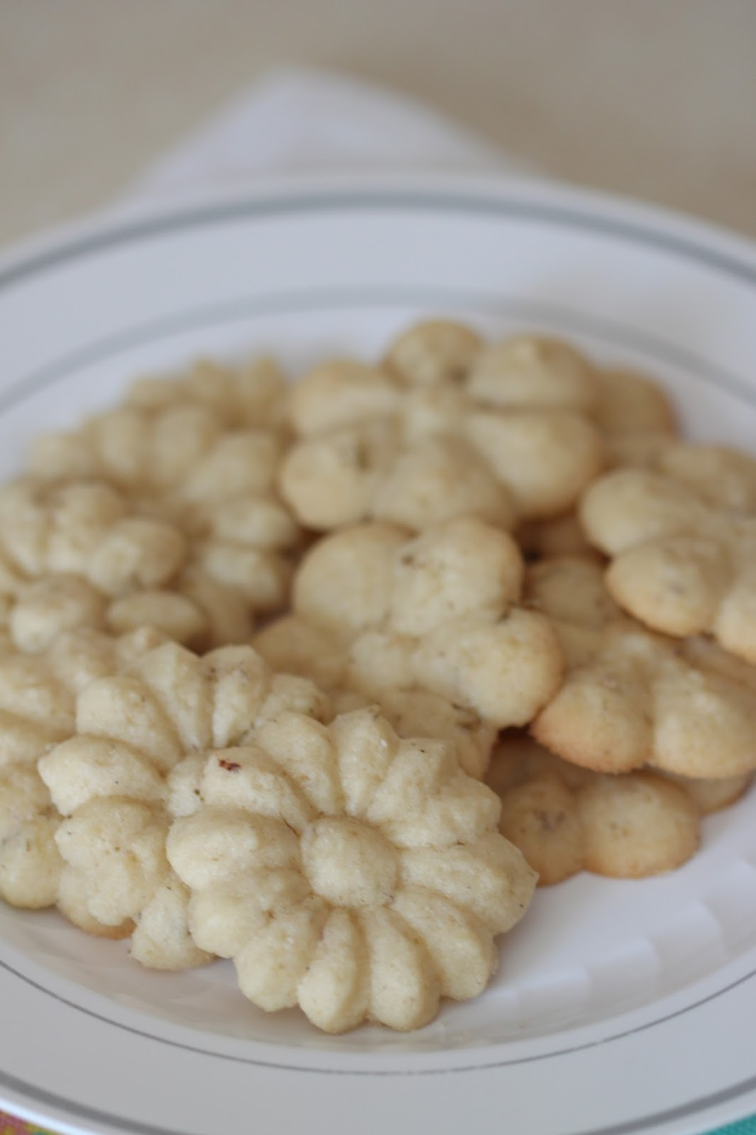 Lavender Spritz Cookies | Tortillas and Honey