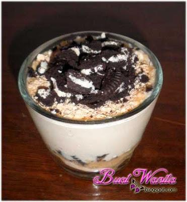 Buat Dessert Mudah Dengan Homemade Yogurt. Menu Dessert Mudah Simple Senang Menggunakan Yogurt Yoghurt. Yogurt Oreo