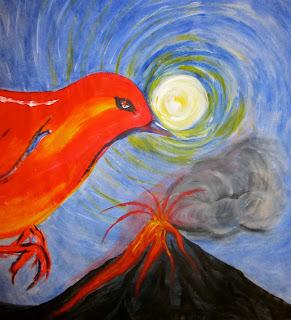 phoenix close up, volcano