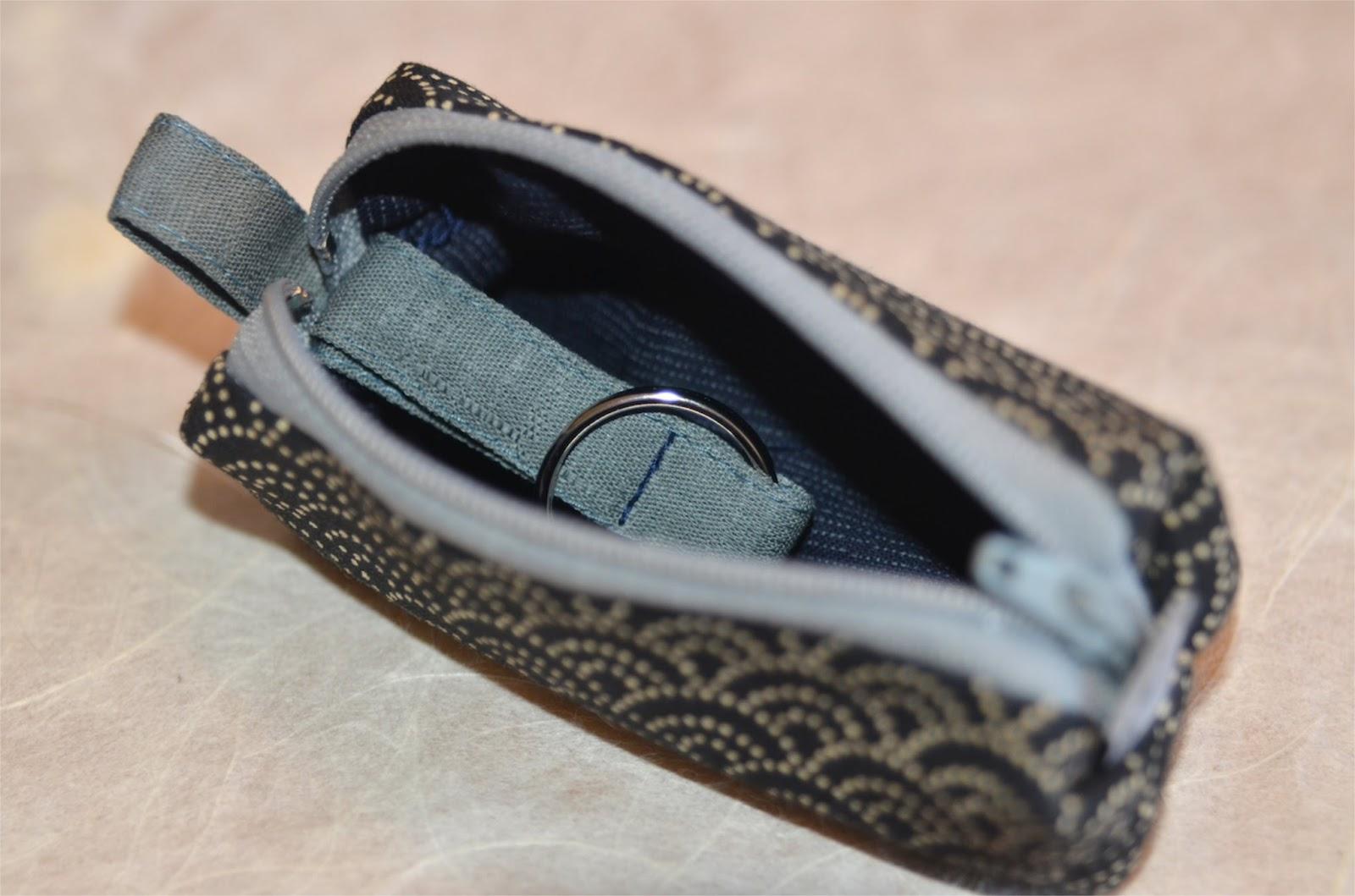 Schlüsseletui Kagi aus japanischen Stoffen von Noriko handmade, Japan, Design