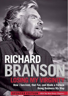 "Här en senare upplaga som är ""uppdaterad"". Richard Branson, Losing my Virginity. How I Survived, Had Fun, and Made a Fortune Doing Business My Way."