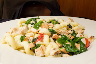 Cavatappi with Chicken, Tomatoes, and Spinach