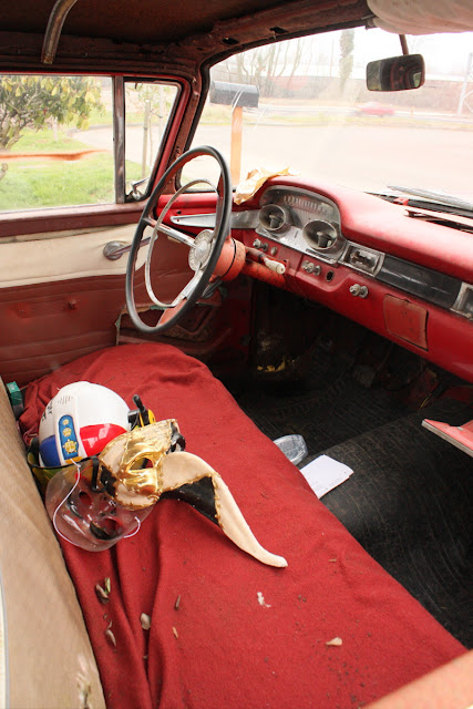 1959 Edsel Villager Wagon interior.