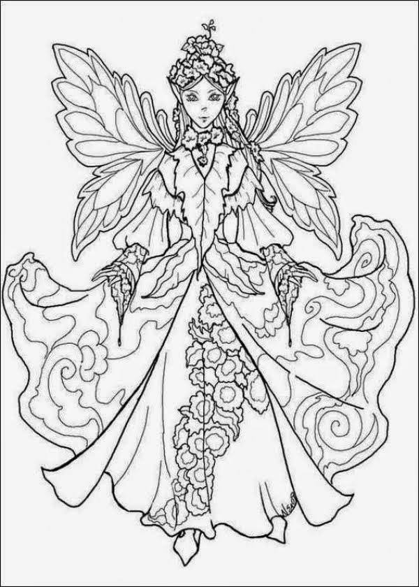 Flower Fairy Coloring Book Pages