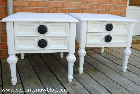 Painted Thrift Store End Tables Serenity Now blog