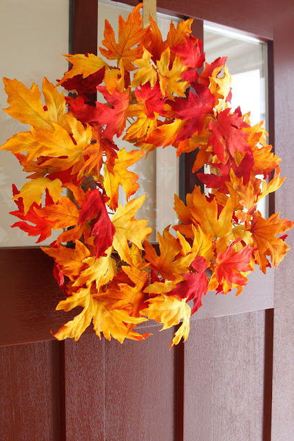 plastic fall wreath