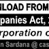 Download Chapter Wise Notes on Companie Act 2013  - CA, CS, CWA