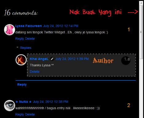 Tutorial Blog Bahasa Melayu - Letak Scroll Bar Pada Comment