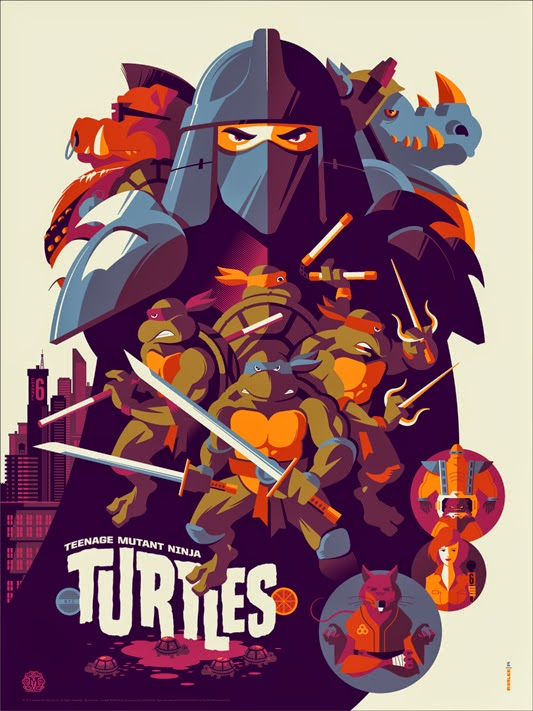 Teenage Mutant Ninja Turtles Screen Print by Tom Whalen