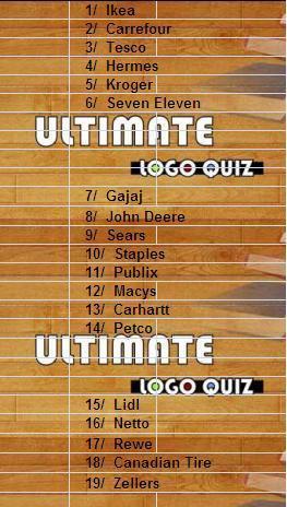 Logo quiz ultimate answers cheats Level 6 Niveau 6