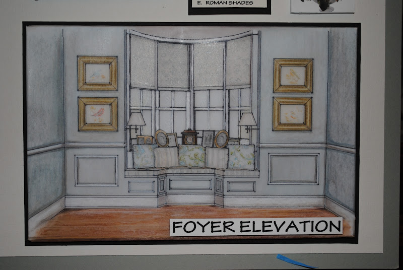 Board 2 includes the Den Perspective and the Foyer elevation along  title=