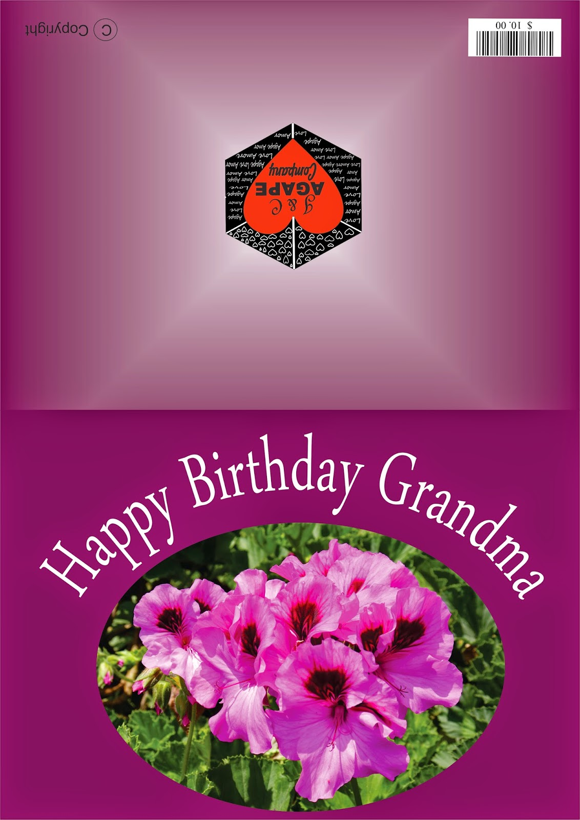 Greeting Cards Print At Home Happy Birthday Grandma Feliz