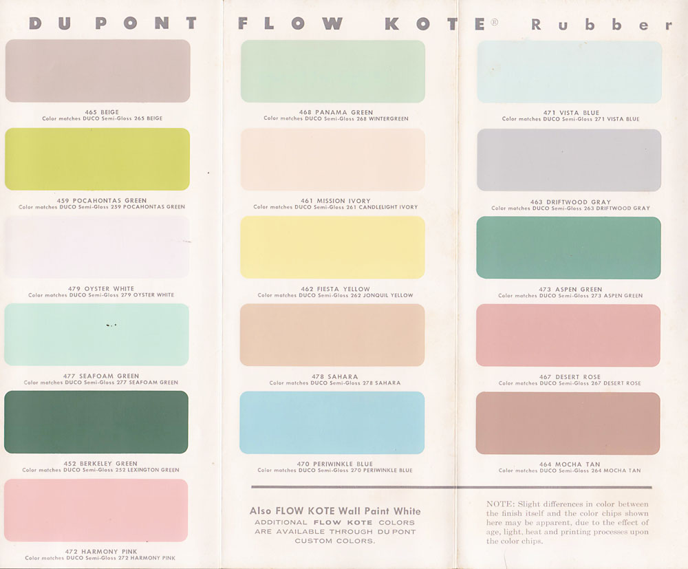 Vintage Goodness 1 0 Vintage Decorating 1950 39 S Paint Color Chip Brochures