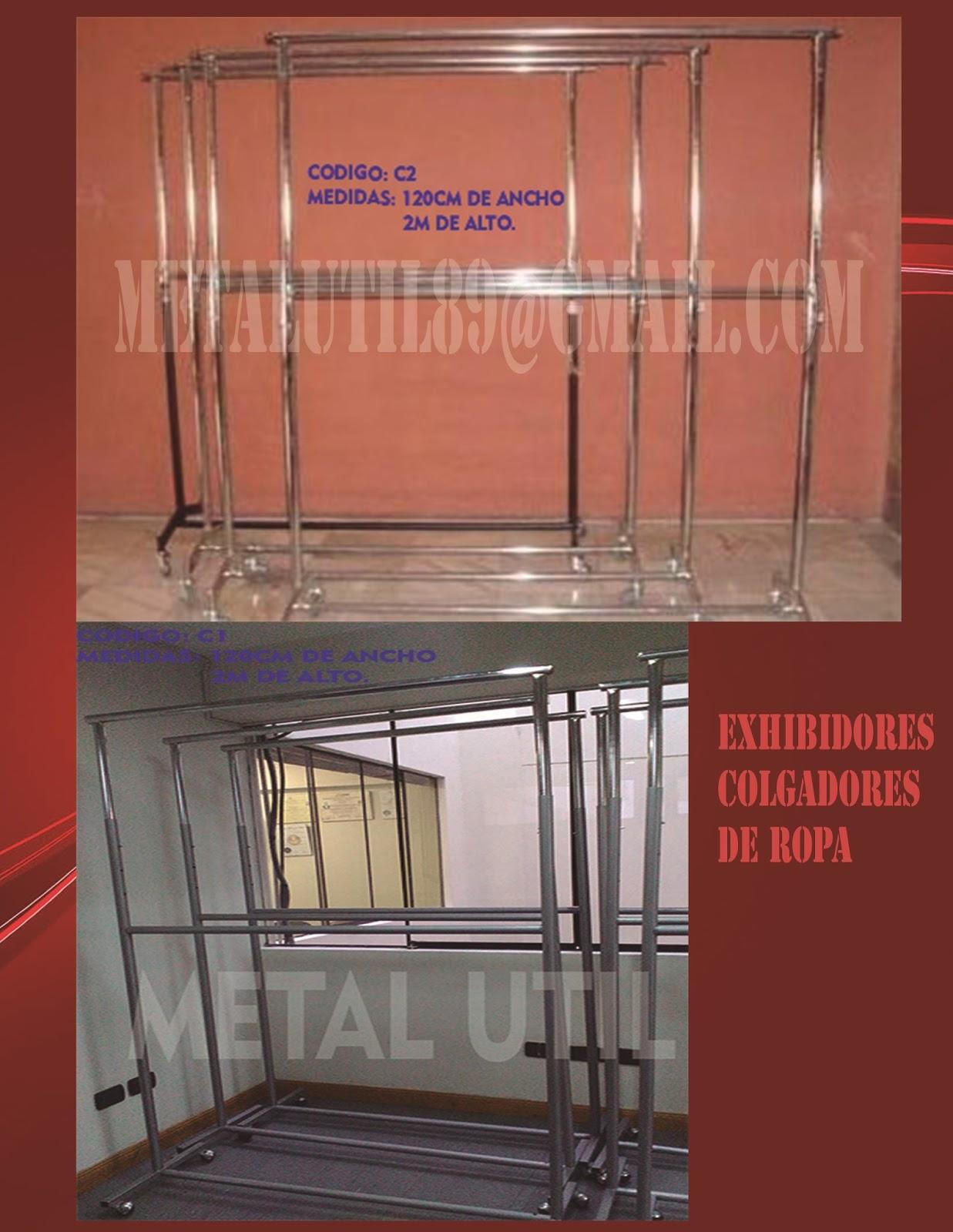 Exhibidores para tiendas lima peru exhibidores para ropa for Porta ganchos de ropa
