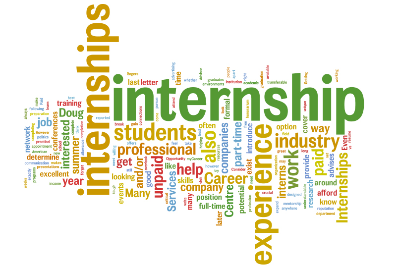 internship wordcloud