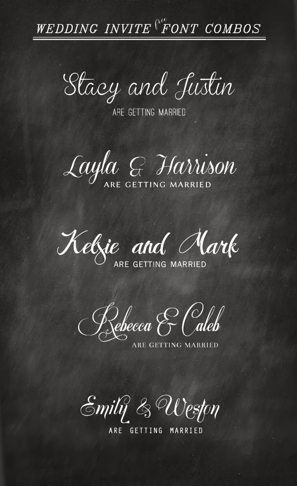 Best Fonts For Wedding Invitations is an amazing ideas you had to choose for invitation design