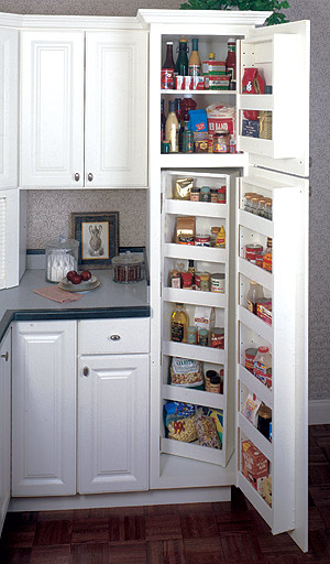 Various common plans and ideas for kitchen pantry cabinets for Kitchen pantry plans