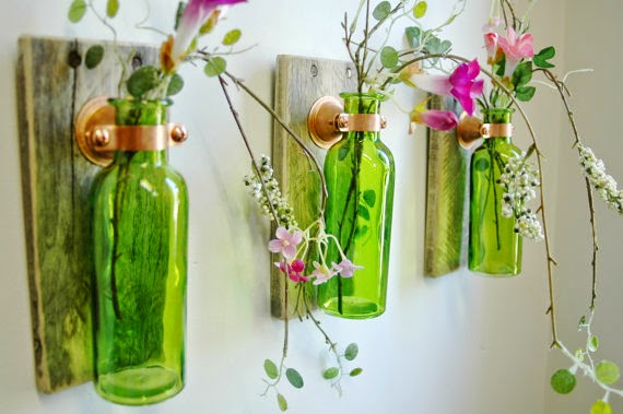 Glass bottle craft as a home decor ideas arts and crafts for Home decor arts and crafts ideas