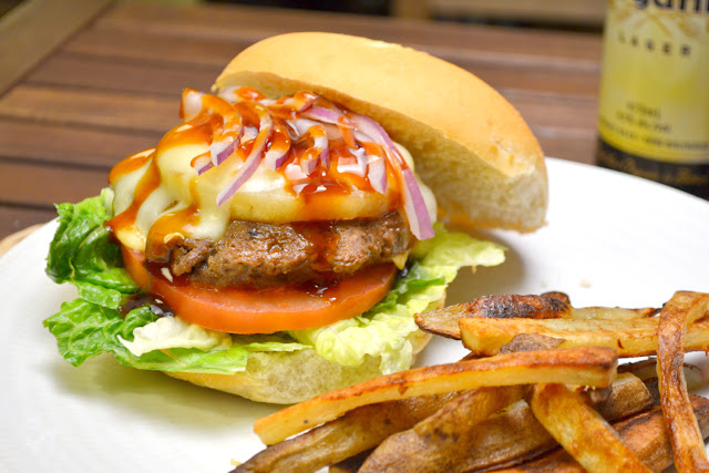 teriyaki burgers with truffle french fries recipe