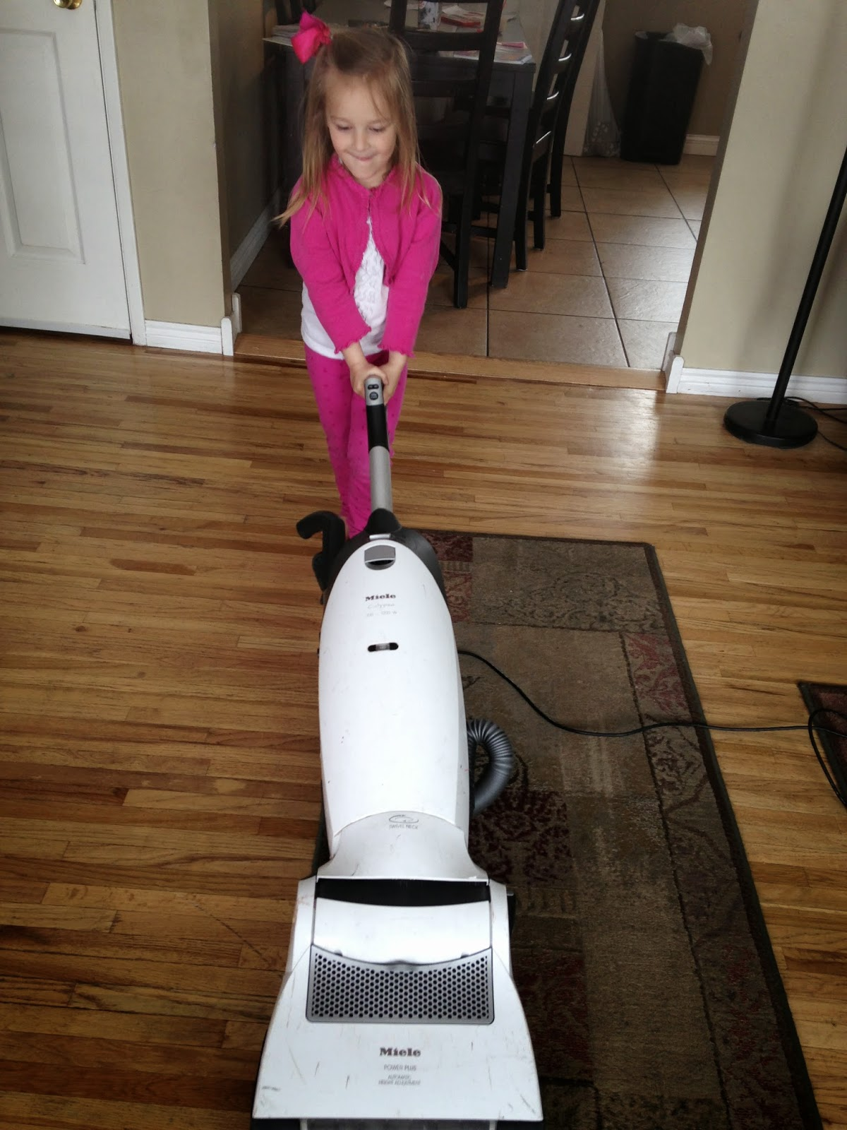Preschool Girl Vacuuming