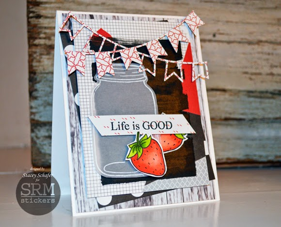 SRM Stickers Blog - Life is Good with Chalkboard Marker by Stacey - #chalkboard #blackboard #markers #card #lifeisgood #janesdoodles #clearstamps #DIY