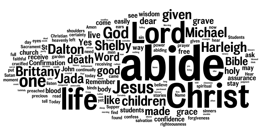 Confirmation 2014: Abide In Him