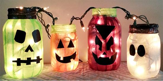 enfeites halloween, vidros de vidro, vidros decorados, vidros reciclados, decoracao barata, decoracao halloween, dia das bruxas