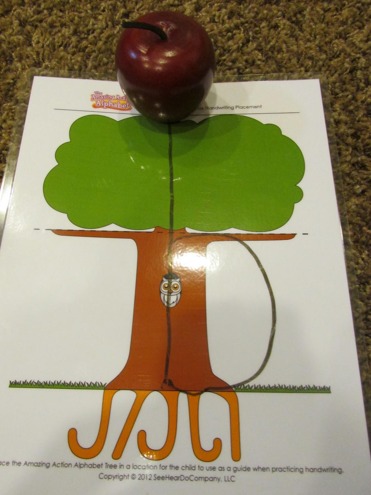 Teaching preschoolers handwriting using a tree template