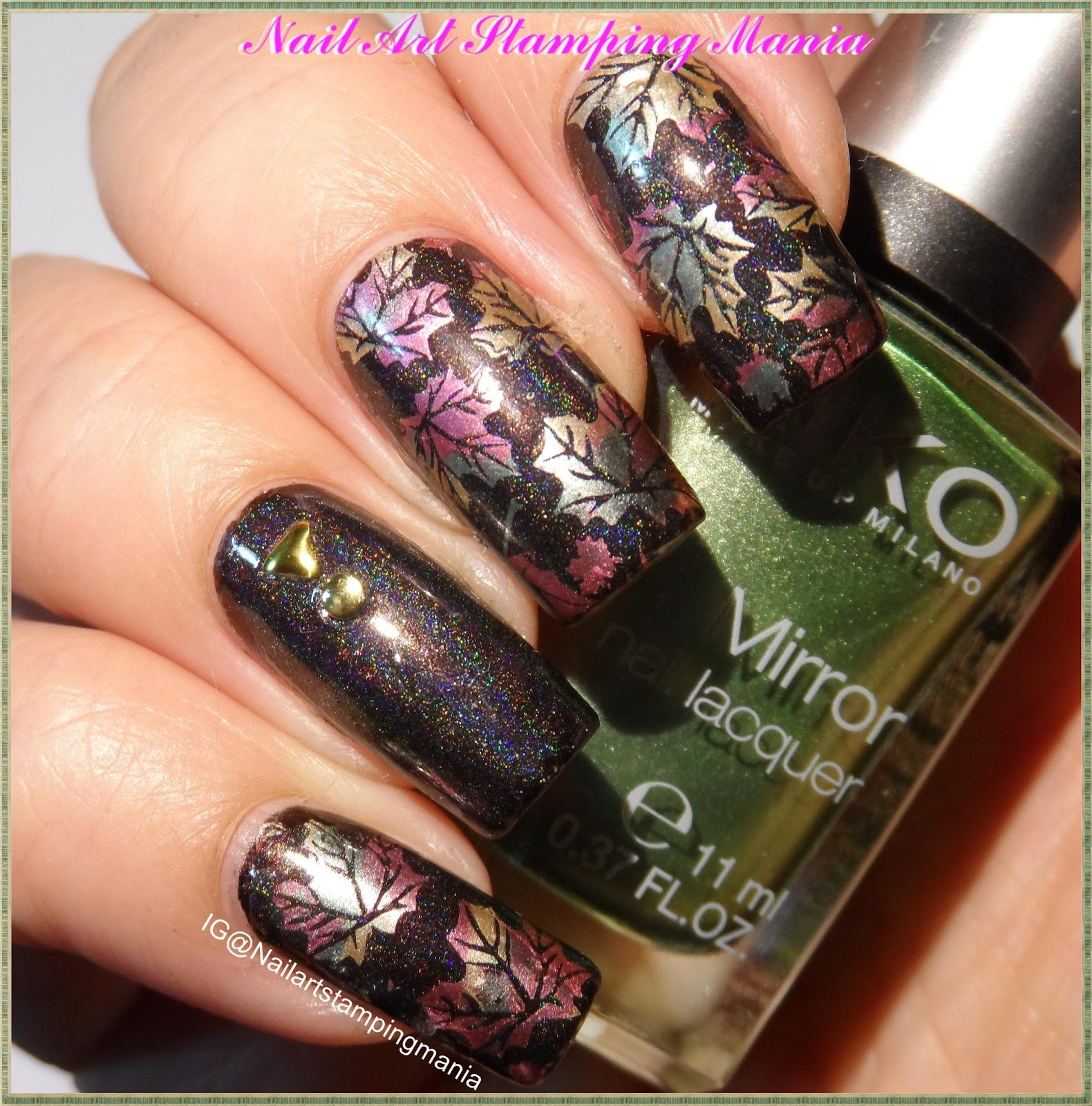Nail Art Stamping Mania: Fall Manicure with Born Pretty Plate