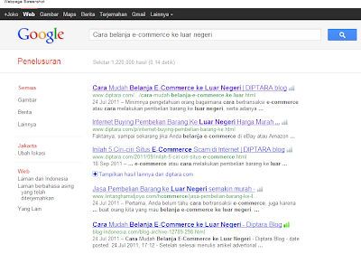 SERPs Advertorial Internet Buying