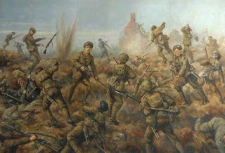 The 2nd Battalion Durham Light Infantry at Hooge 9 August 1915', Gerald Hudson, oil on canvas, The Regimental Trustees of the DLI Museum, Acc no. 883
