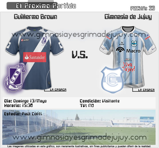 Fecha 33: Guillermo Brown vs Gimnasia de Jujuy - B Nacional