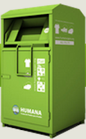 Humana donation container