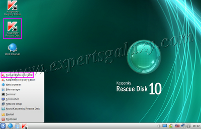 Rescue Disk Start Button