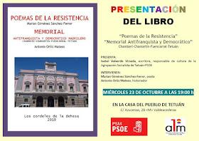 """Presentación libro """"Poemas de la Resistencia"""" y """"Memorial Antifranquista y Democrático"""""""