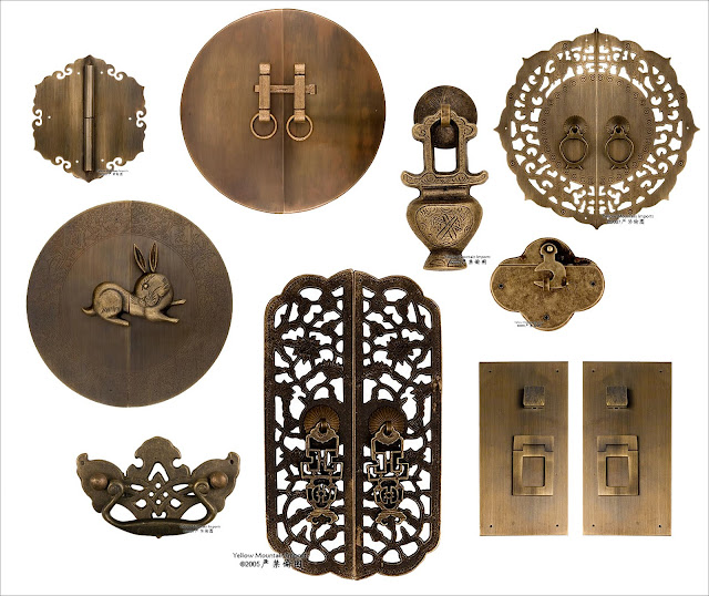 The gallery chinese hardware for Asian furniture hardware drawer pulls