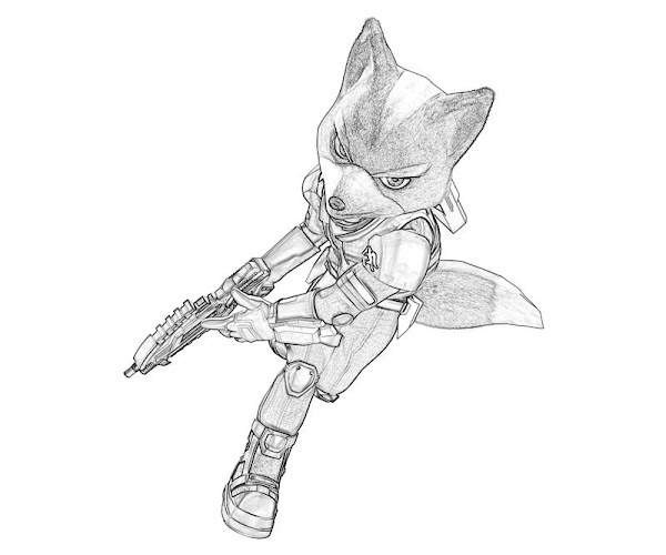 Fox McCloud Coloring Pages