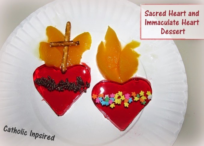 Sacred And Immaculate Hearts Dessert Edible Art